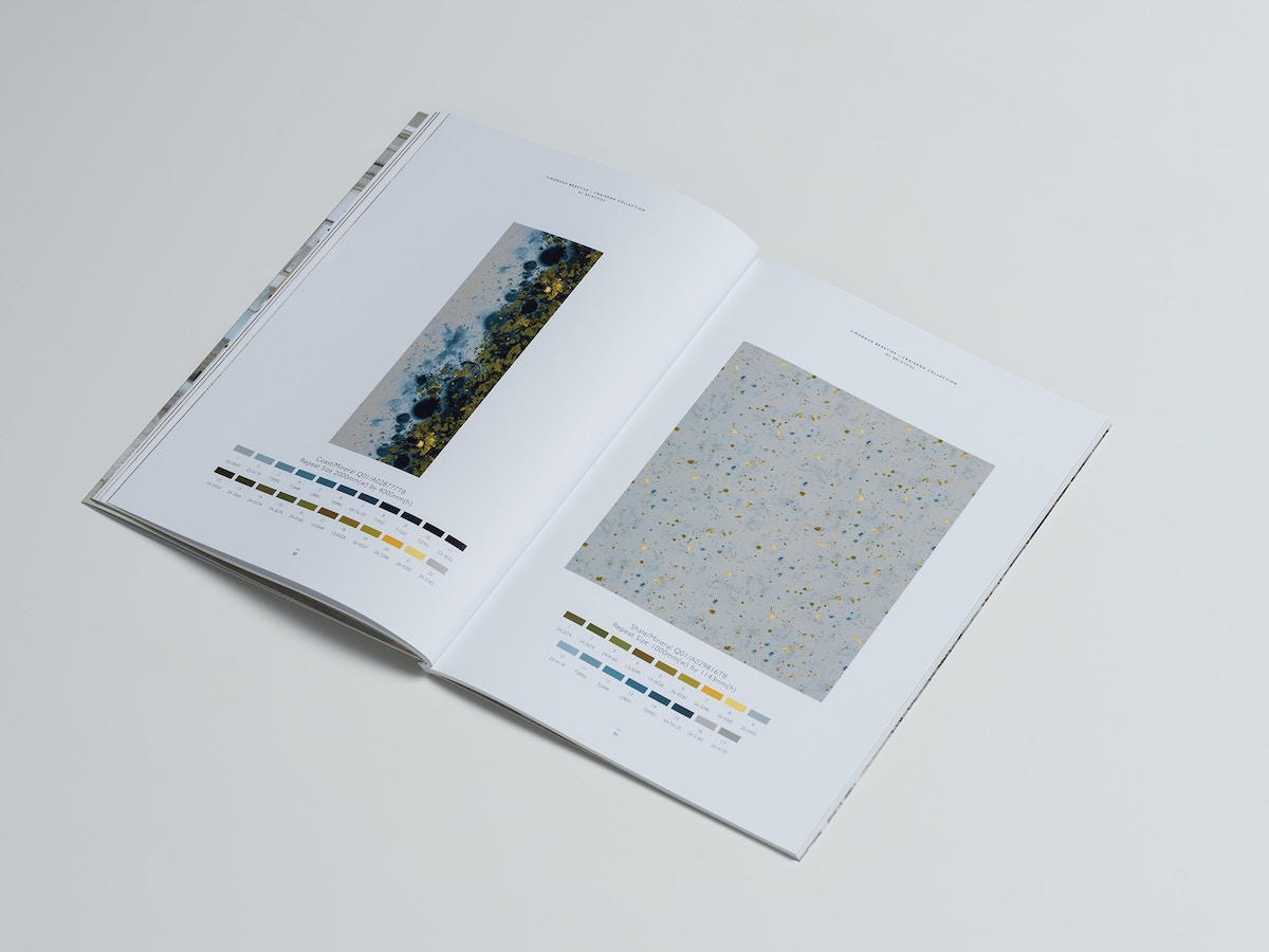 An open page of a catalogue.