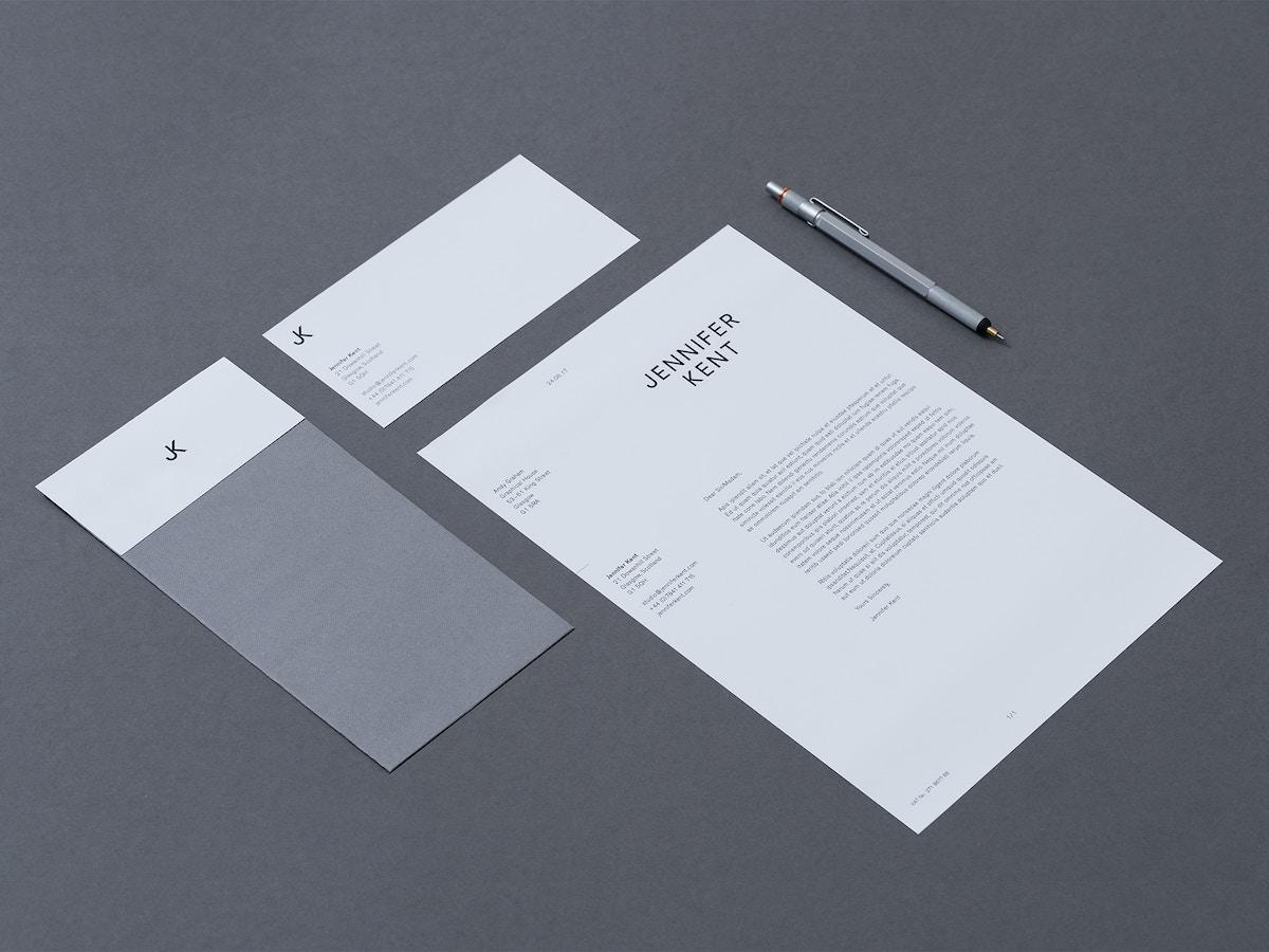 Print stationery for Jennifer Kent.